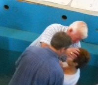 Betty Being Baptised